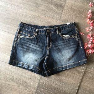Maurices Jean Shorts blue denim curvy 13/14